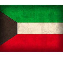 Kuwait Flag Photographic Print
