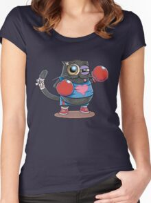 BOXERCAT: A lover and a fighter Women's Fitted Scoop T-Shirt
