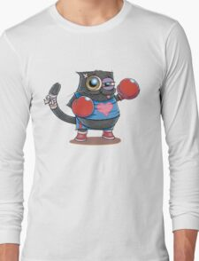 BOXERCAT: A lover and a fighter Long Sleeve T-Shirt