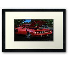 Red Hemi Cuda Framed Print