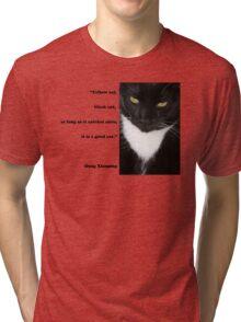 """Yellow Cat, Black Cat..."" Quote by Deng Xiaoping Tri-blend T-Shirt"