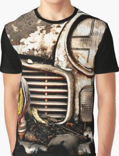 Vintage Abandoned Cars Abstract  Graphic T-Shirt