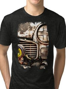 Vintage Abandoned Cars Abstract  Tri-blend T-Shirt