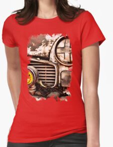 Vintage Abandoned Cars Abstract  Womens Fitted T-Shirt