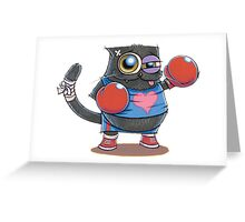 BOXERCAT: A lover and a fighter Greeting Card