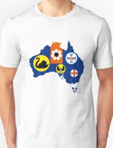 Flag Map of States and Territories of Australia  T-Shirt