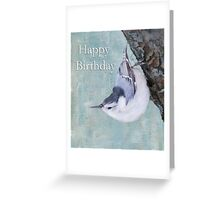 Happy Birthday Tufted Titmouse Greeting Card