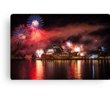 Fleet Review Fireworks Canvas Print