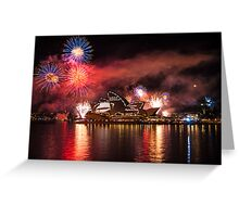 Fleet Review Fireworks Greeting Card