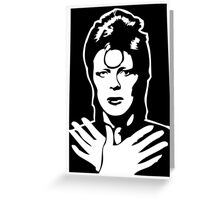 David Bowie Ziggy Stardust Greeting Card