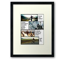 THE PURPOSE OF LIFE Framed Print