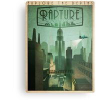 Rapture Art-Deco Travel Poster Metal Print