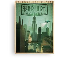 Rapture Art-Deco Travel Poster Canvas Print