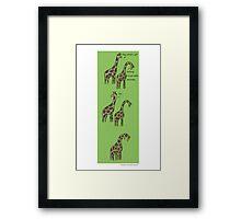 Consolation: Giraffes Framed Print