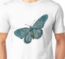 Patterned Butterfly Unisex T-Shirt