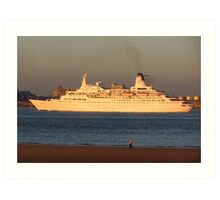 DISCOVERY CRUISE LINER Art Print