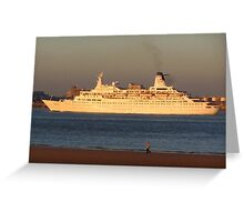 DISCOVERY CRUISE LINER Greeting Card
