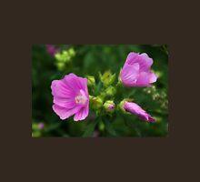 Delightful pink Mallow flowers Unisex T-Shirt