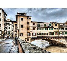 The Ponte Vecchio, Northeast Corner (Florence) Photographic Print
