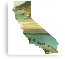 California Collage Metal Print
