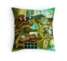 Artists Despair (Extended Portrait of an Owl.) ~ Another Little Collage. Throw Pillow