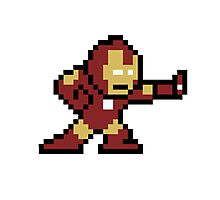 8-Bit Iron Man Photographic Print