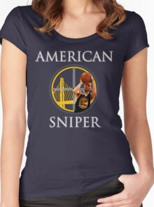 Steph Curry - American Sniper Women's Fitted Scoop T-Shirt