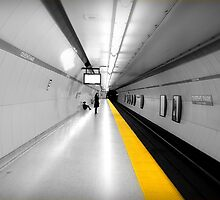 Subway Yellow Line by Valentino Visentini