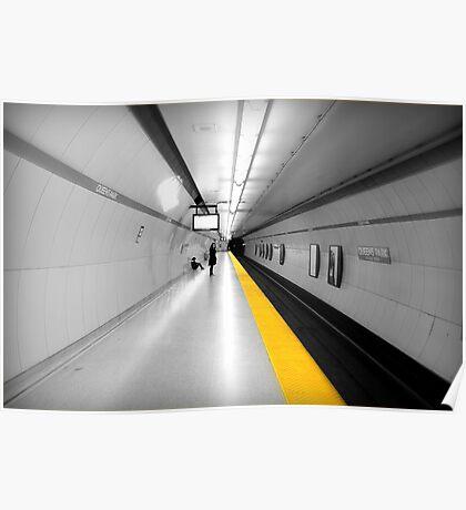 Subway Yellow Line Poster