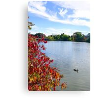 October on the Lake Canvas Print