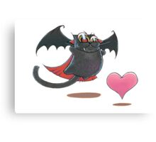 PASSIONCAT (with heart): Monster of love Canvas Print
