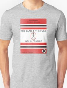 The Saad & The Fury Book Cover T-Shirt