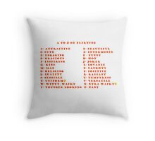A to Z of Flirting Throw Pillow