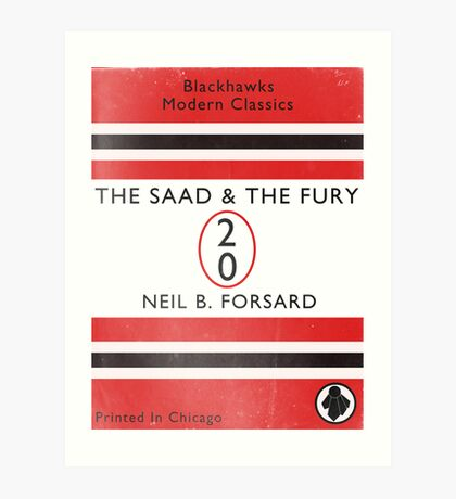 The Saad & The Fury Book Cover Art Print