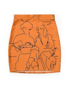 Ladies pausing Mini Skirt