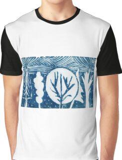 linocut trees Graphic T-Shirt