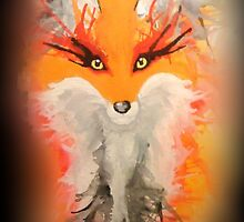 Watercolor Fox by BrittanyPurcell