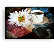 Meet Me For Coffee Canvas Print