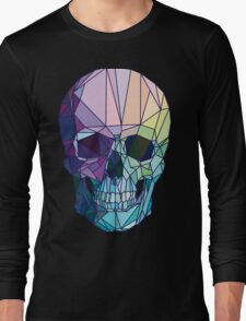 Low-poly geometric skull design Long Sleeve T-Shirt