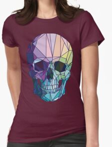 Low-poly geometric skull design Womens Fitted T-Shirt
