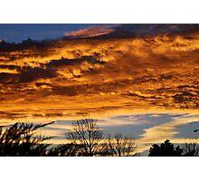 Angry Kansas Sunrise Photographic Print