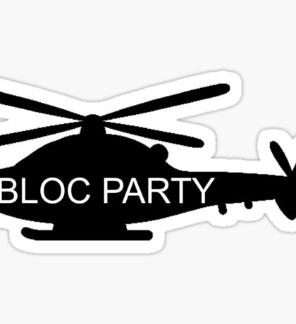 Bloc Party Helicopter Sticker