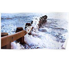 st leonards on sea breakers  Poster