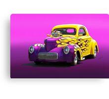 1941 Willys Coupe 'Purple Studio' Canvas Print