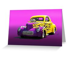 1941 Willys Coupe 'Purple Studio' Greeting Card