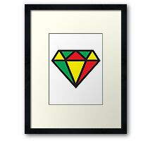 Irie Rasta Diamond Framed Print