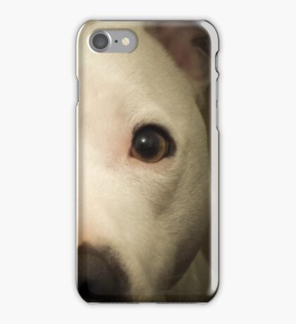 my white staffie marlow  iPhone Case/Skin
