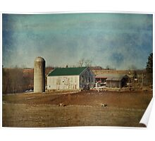 Quiet day on the dairy farm Poster