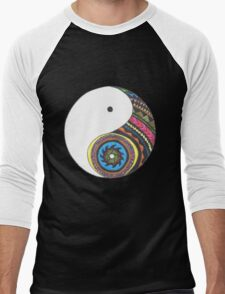 Ying Yang Men's Baseball ¾ T-Shirt