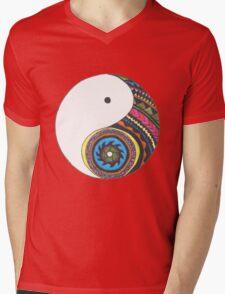 Ying Yang Mens V-Neck T-Shirt